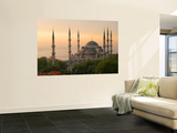 Sultan Ahmet (Blue Mosque) at Dawn, Historic Centre of Istanbul Wall Mural by Diego Lezama