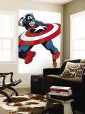 Captain America V4, No.27 Cover: Captain America Wall Mural by Dave Johnson
