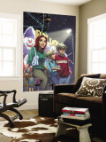 Mary Jane No.4 Cover: Watson, Mary jane, Thompson and Flash Fighting Wall Mural by Takeshi Miyazawa