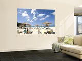 Umbrellas on Beach Wall Mural by Austin Bush