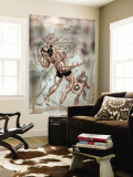 Wolverine Captain America 3 Cover: Wolverine and Captain America Wall Mural by Tom Derenick