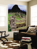 Huayna Picchu from Grounds of Inca Ruins Mural por Jeffrey Becom