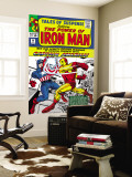 Tales Of Suspense 58 Cover: Iron Man and Captain America Fighting Wall Mural by Don Heck