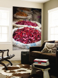 Dried Red Chillies at Spice Market Wall Mural by Huw Jones