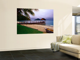 Summer Storm Approaching Beach Jetty Wall Mural by Bob Charlton