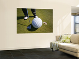 Man Playing Golf with Oversized Ball Wall Mural by Thomas Winz