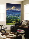 Mount Hood at Dawn from Panorama Point County Park in Hood River Wall Mural by Witold Skrypczak