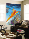 Human Torch 10 Cover: Human Torch Wall Mural by Joe Dodd