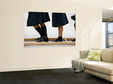 Legs of Playing Schoolgirls at St. Vincent Elemetary School Wall Mural by Brian Cruickshank