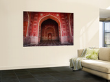 Interior of Red Sandstone Mosque in Grounds of Taj Mahal Wall Mural by Kimberley Coole