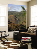 Waimea Canyon Waterfall Wall Mural by Linda Ching