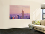 Empire State Building and Manhattan Skyline Wall Mural by Jean-pierre Lescourret
