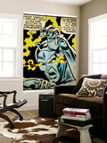 Marvel Comics Retro: Silver Surfer Comic Panel, Unleashing Power (aged) Wall Mural