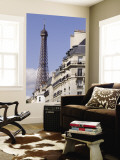 Eiffel Tower and Apartment Building Wall Mural by Will Salter