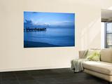 Tourists Watching Sunset from Occidental Grand Cozumel Resort Pier Veggmaleri av Dennis Johnson