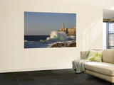 El Morro Castle and Pounding Waves on the Malecon Mural por Brent Winebrenner