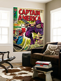 Marvel Comics Retro: Captain America Comic Book Cover No.108, the Trapster (aged) Wall Mural