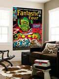 Marvel Comics Retro: Fantastic Four Family Comic Book Cover No.49, If This Be Doomsday! (aged) Wall Mural