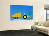 Tractor Sign Wall Mural by Oliver Strewe