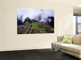 Inca Terraces with Fogbound Mountains Wall Mural by Jeffrey Becom
