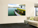 Tom Thumb Iii, the Port Hacking Ferry Leaving, the Bundeena Wharf for Cronulla Wall Mural by Oliver Strewe