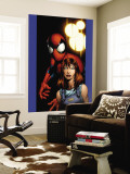 Ultimate Spider-Man No.78 Cover: Mary Jane Watson and Spider-Man Wall Mural by Mark Bagley