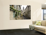 Rue Du Four Bas Leading to Gothic Church St. Maur Wall Mural by Barbara Van Zanten