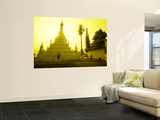 Sunrise at Wat Phra That Doi Khong Mu Wall Mural by Antony Giblin