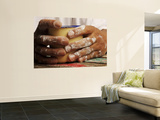 Hands Holding Mug Wall Mural by Oliver Strewe