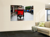 Mototaxis with Protective Rain Covers Wall Mural by Paul Kennedy
