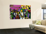 The Official Handbook Of The Marvel Universe Teams 2005 Group: Argento Wall Mural by Paco Diaz Luque