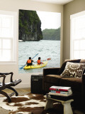 Kayaking at Ang Thong Marine Park Wall Mural by Austin Bush