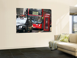 London Buses and Taxis in Heavy Traffic Wall Mural by Tony Burns