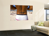 Man with Bondi Post Code Tattooed on His Back Standing on Bondi Beach Wall Mural by Oliver Strewe
