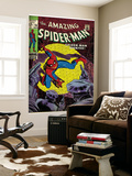 Marvel Comics Retro: The Amazing Spider-Man Comic Book Cover No.70, Wanted! (aged) Väggmålning