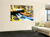 Kayaks for Rent and Sale Wall Mural by Lou Jones