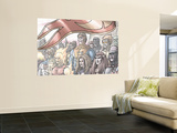 The Official Handbook Of The Marvel Universe Teams 2005 Group: Imperial Guard Fighting Wall Mural by  Ladronn