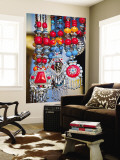 Colourful Tibetan Costume Jewellry for Sale on Darjeeling Mall Wall Mural by Tim Makins