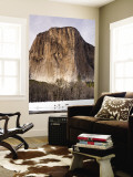 El Capitan and Black Oaks Along the Merced River in Winter Wall Mural by Douglas Steakley