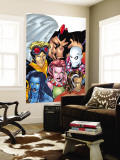 Exiles No.1 Cover: Blink, Morph, Thunderbird, Mimic, Magnus and Nocturne Wall Mural by Mike McKone