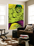 Marvel Comics Retro: The Incredible Hulk Comic Panel (aged) Wall Mural
