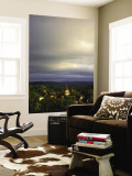 Morning Storm Clouds over Village of Carennac Wall Mural by Barbara Van Zanten