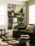 Old Houses with Wooden Balconies and Tiled Roofs Wall Mural by Barbara Van Zanten