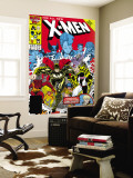 X-Men Annual 10 Cover: Warlock, Sunspot, Wolfsbane and New Mutants Reproduction murale g&#233;ante par Arthur Adams