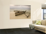 Pwani Mchangani Village on East Coast. Fishing Boat on Beach Wall Mural by Ariadne Van Zandbergen