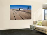 Abandoned Railway Station in Namib Desert Between Aus and Luderitz Wall Mural by Karl Lehmann