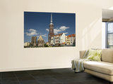 New Town Hall and Tower at Rynek (Market Square) Wall Mural by Witold Skrypczak