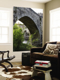 Medieval Fortified Bridge over Fluvia River Wall Mural by Dennis Johnson