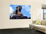Tian Tan Buddha Wall Mural by Richard l'Anson