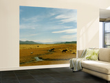 Horses Roaming in a Field, Andes Wall Mural – Large by Christian Aslund
